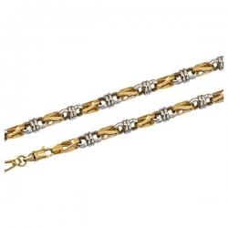 Мужская цепь из комбинированного золота