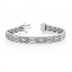 Винтажный браслет с бриллиантами из белого золота