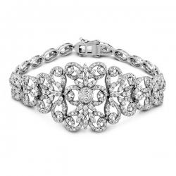 Эксклюзивный браслет из белого золота с бриллиантами