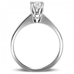Т-38157 помолвочное кольцо из белого золота с бриллиантом