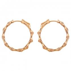 Серьги кольца с бриллиантами