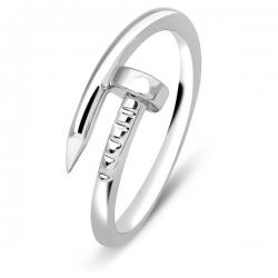 Кольцо «гвоздь» из белого золота