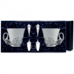 """Набор серебряная чайная пара """"Лебедь"""""""