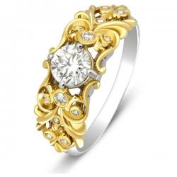 Эксклюзивное помолвочное кольцо из золота с бриллиантами