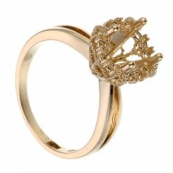 Оправа для кольца из белого золота