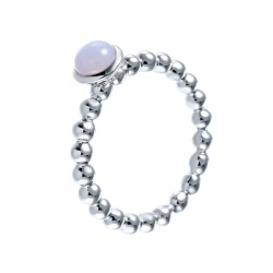 Кольцо из серебра 925 пробы с агатами
