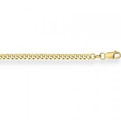 Золотой браслет из желтого золота 750 пробы Гурмета с алмазной гранью