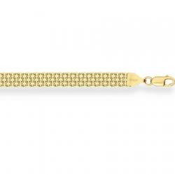 Браслет из желтого золота Бисмарк двойной с алмазной гранью