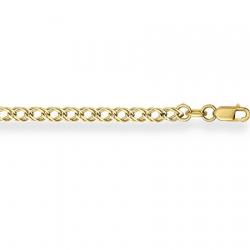 Браслет из желтого золота Ромб двойной с алмазной гранью