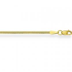 Цепочка из желтого золота Миндалина с алмазной гранью
