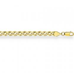 Браслет из желтого золота Нонна с алмазной гранью