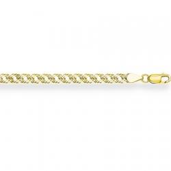 Цепочка из желтого золота Ромб тройной с алмазной гранью