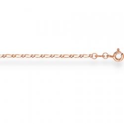 Золотой браслет Фигаро 1+1 с алмазной гранью