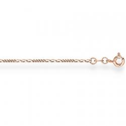 Золотая цепочка Фигаро 5+3 с алмазной гранью