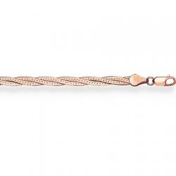 Золотой браслет Монтреаль косичка из 3-х цепочек с алмазной гранью
