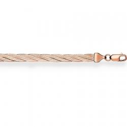 Золотой браслет Трипла батута косичка из 4-х цепочек с алмазной гранью