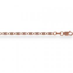 Золотая цепочка Люмакина пустотелая с алмазной гранью