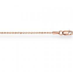 Золотая шариковая цепочка с алмазной гранью