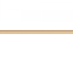 Золотая цепочка Гурмет овал уплотненный