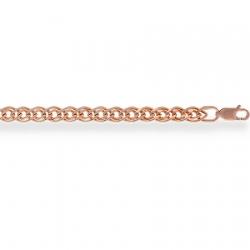 Золотой браслет Нонна пустотелый с алмазной гранью