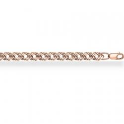 Золотая цепочка Ромб тройной с алмазной гранью