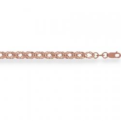 Золотая цепочка Ромб тройной пустотелый с алмазной гранью