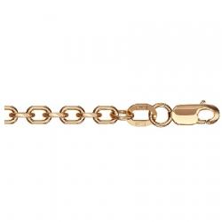 Золотая цепочка Ролло удлиненный с алмазной гранью с 4-х сторон