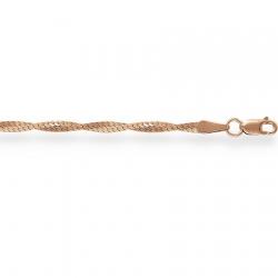 Золотая цепочка Париджина косичка из 2-х цепочек с алмазной гранью