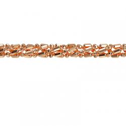 Золотая цепочка Шарик+бочка косичка из 5-ти цепочек с алмазной гранью