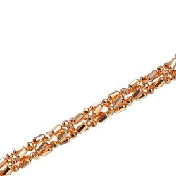 Золотая цепочка Шарик+бочка косичка из 4-х цепочек с алмазной гранью