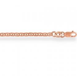 Золотая цепочка Гарибальди плоская с алмазной гранью