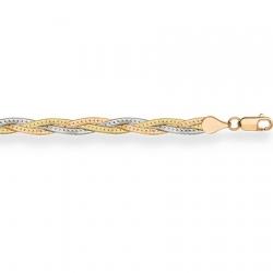 Цепочка Монтреаль косичка из 3-х цепочек (красная+желтая+белая) с алмазной гранью