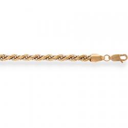 Золотой браслет Корда пустотелый с шариковой цепочкой