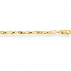 Цепочка из желтого золота Париджина косичка из 3-х цепочек с алмазной гранью