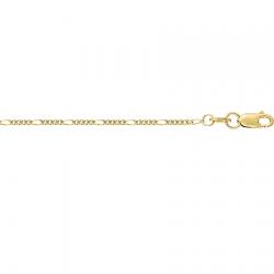 Цепочка из желтого золота Фигаро 4+1 с алмазной гранью