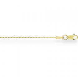 Цепочка из желтого золота Гурмета кованая круглая с алмазной гранью