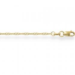 Цепочка из желтого золота Сингапур с алмазной гранью