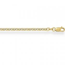 Цепочка из желтого золота Люмакина с алмазной гранью