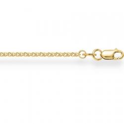 Цепочка из желтого золота Гурмета кордино с алмазной гранью