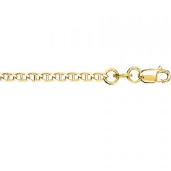 Цепочка из желтого золота Гурмета рада перно с алмазной гранью