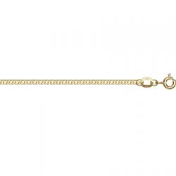 Цепочка из желтого золота Ромб двойной с алмазной гранью