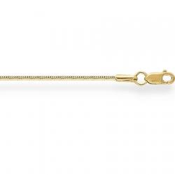 Золотой браслет из желтого золота 750 пробы Снейк с алмазной гранью