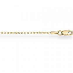 Золотой браслет из желтого золота 750 пробы шариковый с алмазной гранью