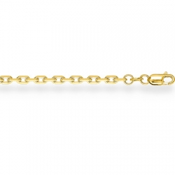 Цепочка из желтого золота Ролло с удлиненным звеном с алмазной гранью