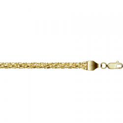 Цепочка из желтого золота Шарик+бочка косичка из 5-ти цепочек с алмазной гранью
