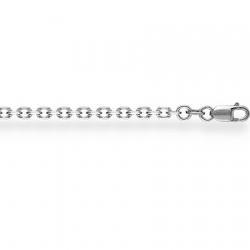 Платиновый браслет Ролло с алмазной гранью