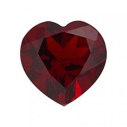 Гранат огранки сердце