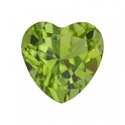 Хризолит огранки сердце