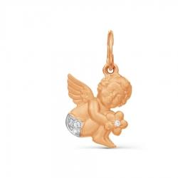 Золотая подвеска Ангел с фианитами