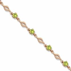 Золотой браслет с хризолитом